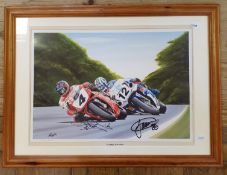 Geoff limited edition print Carl Fogerty, James Wilhelm 238/1000, signed by Carl Fogerty and James