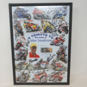A tribute to the works of Alan Sanderson limited edition poster, 73/100, signed by the artist and