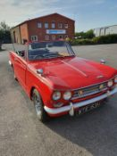 A 1970 Triumph Vitesse Mk II convertible