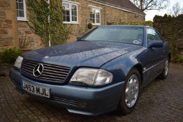 A 1991 Mercedes Benz 300SL Registration number J453 MJL Chassis number WDB1290602F032897 V5C MOT