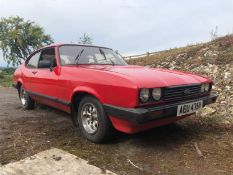 A 1979 Ford Capri 1.6 GL Registration number AEU 475V MOT expired in June 2019 Red with a red
