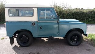 A 1973 Land Rover Registration number KLA 727K Marine blue with a Limestone roof 2.25 litre petrol