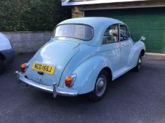 A 1970 Morris Minor 1000 Registration number NCO 155J V5C Blue One family owned from new Not used