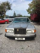 A 1985 Rolls-Royce Silver Spirit Registration number B6 GNB Metallic silver with a blue leather