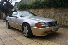A 1992 Mercedes-Benz 500 SL Registration number K89 EUL V5C Brilliant silver with a black leather