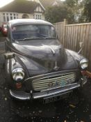 A 1968 Morris Minor 1000 Registration number BOO 712F Rose Taupe with a red interior