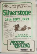 A British Motor Cycle Racing Club International Motor Cycle Race poster, Silverstone 27 September