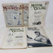 The Motor Cycle magazine, No. 953, Thursday June 30 1921, another, No. 961, Thursday August 25 1921,