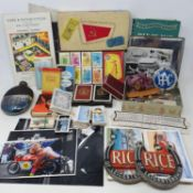 Assorted items, including Canon E H Stenning Isle of Man, other ephemera, photographs, postcards,