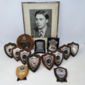 Assorted H L 'Don' Williams trophy plaques, including BMCRC Hutchinson 100 Saturday Silverstone 1950