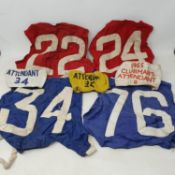 The collection of H L 'Don' Williams rider bib no.'s 22,24,34,76 and 79, and armbands no.'s 8,24,
