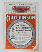 An Autocycle magazine, Special TT Race Issue (Junior Results) May 1914 Provenance: Being sold