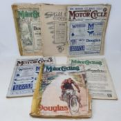 A group of ten 1914 magazines, including The Motor Cycle and Motor Cycling, including featuring Eric