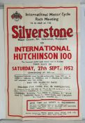 A British Motor Cycle Racing Club poster, International Motor Cycle Race Meeting to be held at the