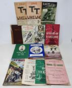Assorted TT related books and ephemera, including G S Davison The Racing Game, signed by the author,