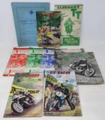 A Motor Cycling TT Clubman's Official Programme, June 1948, another, Lightweight & Senior June 1950,