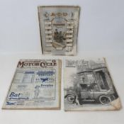An ACU Six Days Reliability Trial Official Programme, 1919, a Motor Cycle magazine, No. 721