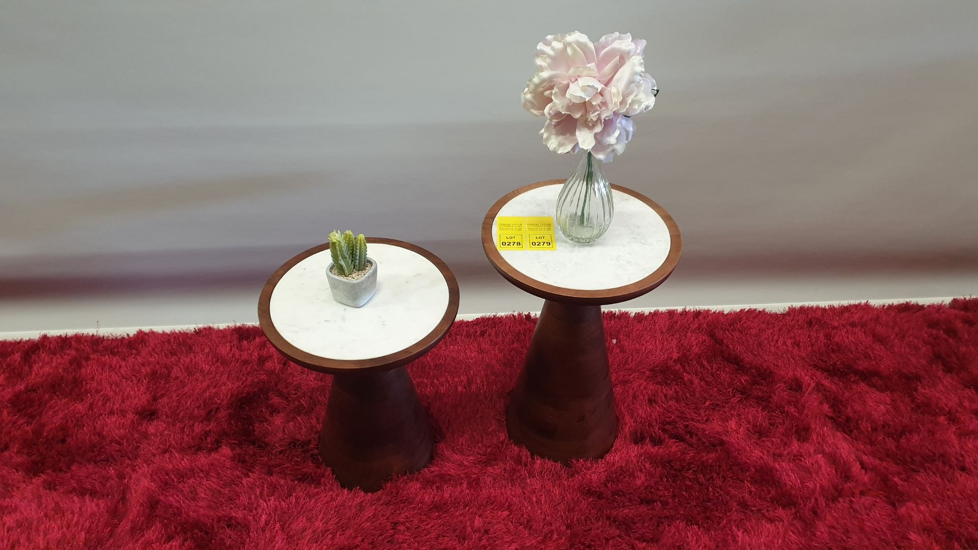 Lot 279 - BRAND NEW CONTENT BY TERRANCE CONRAN LARGE PENNY ROUND MARBLE TOP SIDE TABLE RRP £279.00