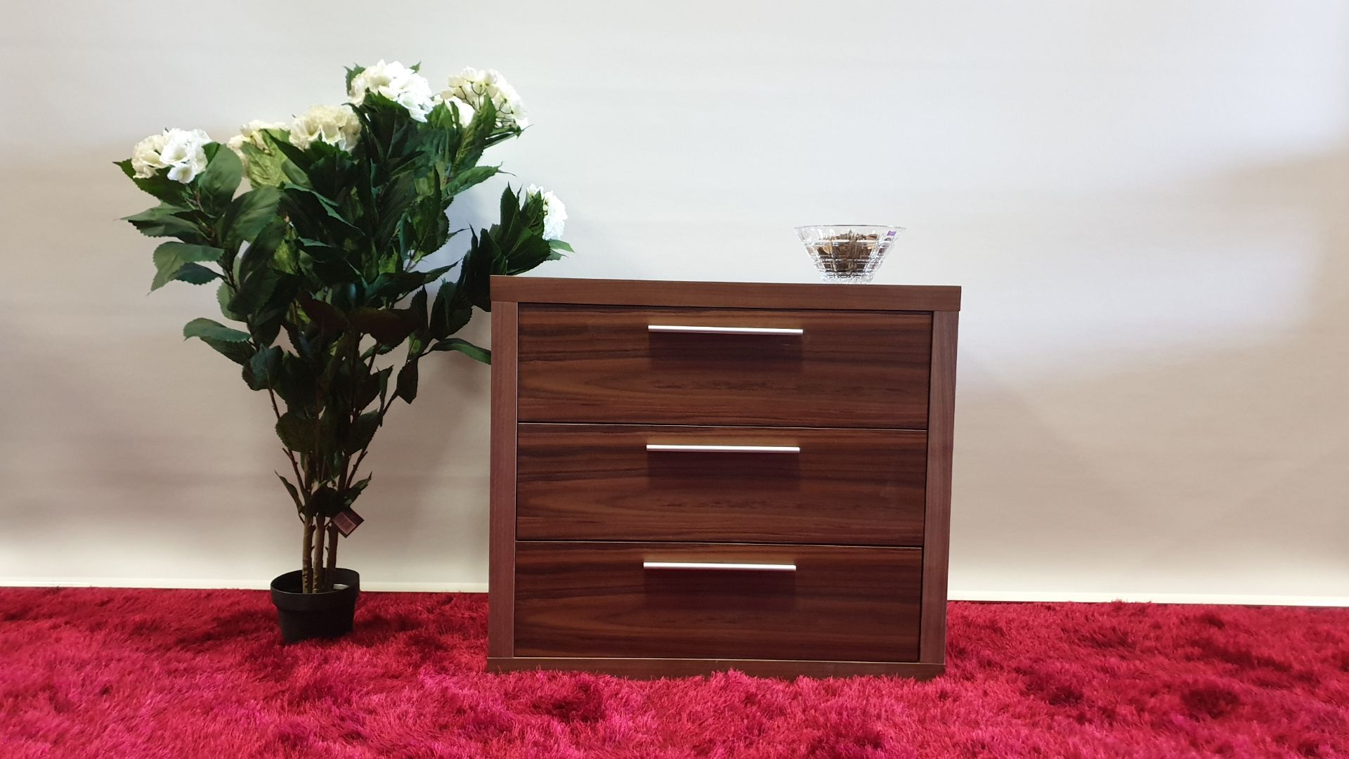 Lot 20 - BRAND NEW NATURAL WALNUT 3 DRAWER SOFT CLOSE CHEST OF DRAWERS 850 X 500 X 750MM RRP £549
