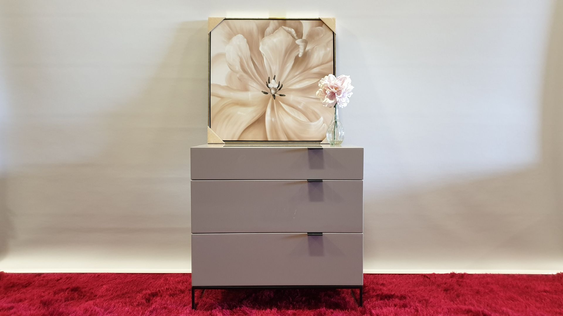 Lot 3 - BRAND NEW 3 DRAWER HIGH GLOSS AVORIO MDF SOFT CLOSE CHEST OF DRAWERS 800 X 450 X 803MM RRP £329