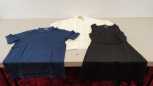 MIXED LOT CONTAINING 40 X PIECES OF CLOTHING IN VARIOUS STYLES AND SIZES IE ONLY AND SONS BLUE