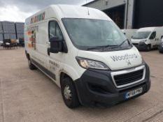 (THIS VEHICLE WILL BE SOLD THURSDAY 28TH MAY 12 NOON) WHITE PEUGEOT BOXER 335 PROFESSIONAL L3H2. (