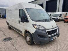 (THIS VEHICLE WILL BE SOLD THURSDAY 28TH MAY 12 NOON) WHITE PEUGEOT BOXER 335 PROFESSIONAL. ( DIESEL