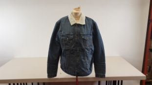 5 X BRAND NEW ONLY AND SONS BLUE DENIM JACKET WITH WOOL LINED INSIDES SIZES XL