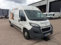 (THIS VEHICLE WILL BE SOLD THURSDAY 28TH MAY 12 NOON) WHITE PEUGEOT BOXER 335 PROFESSIONAL L3. (