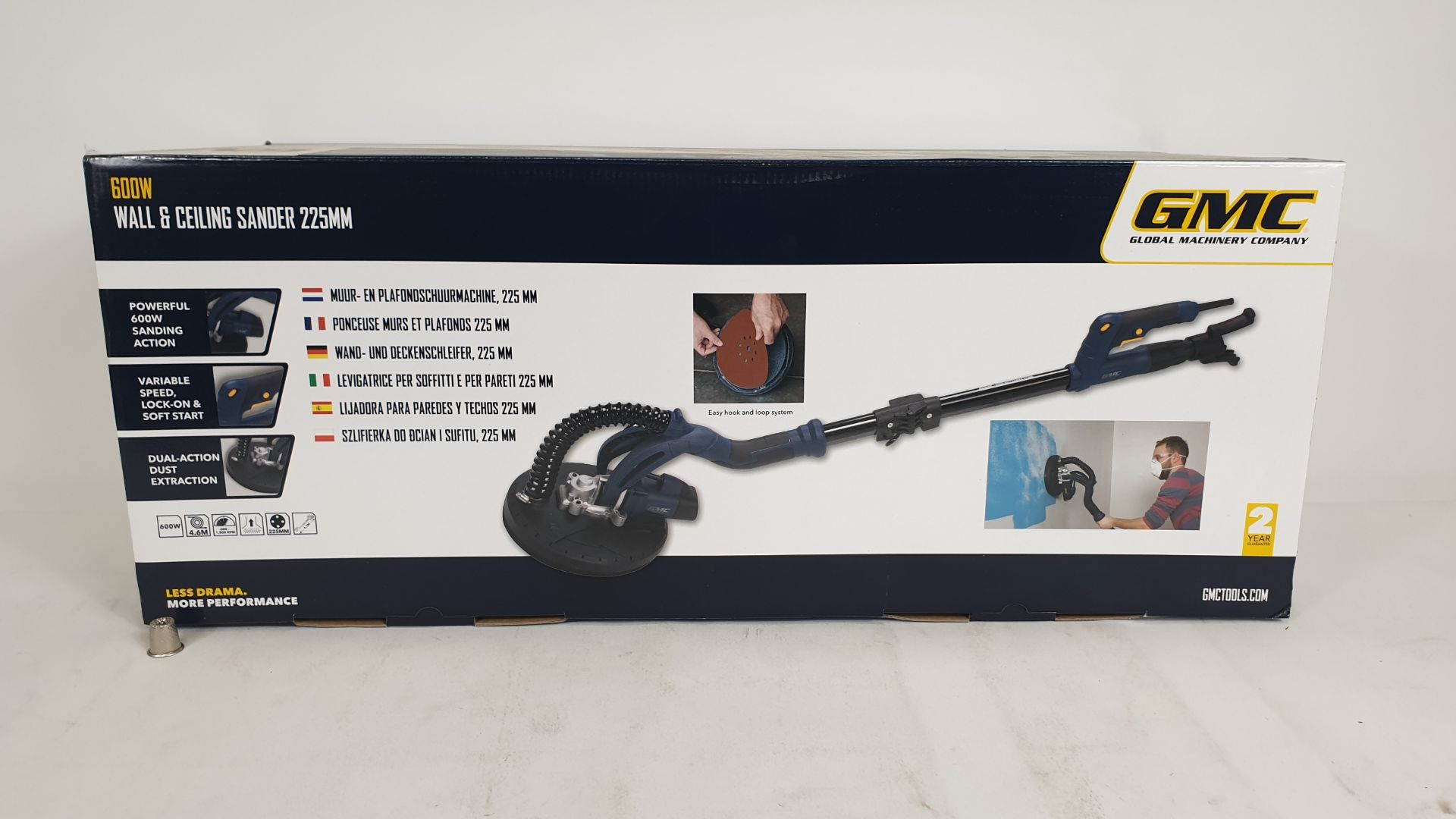 Lot 1562 - (LOT FOR THURSDAY 28TH MAY AUCTION) GMC 600W WALL AND CEILING SANDER 225M (PRODUCT CODE 264803) - (