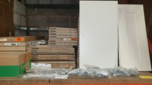 (LOT FOR THURSDAY 28TH MAY AUCTION 12 NOON) B & Q TRADE LOT ON A SHELF - APPROX 50 KITCHEN DOOR