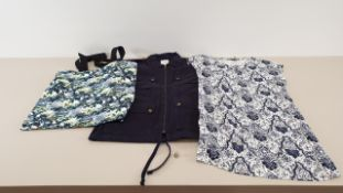 MIXED LOT CONTAINING 40 X PIECES OF CLOTHING IN VARIOUS STYLES AND SIZES IE ONLY AND SONS BLACK