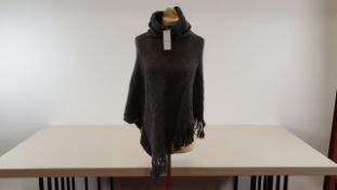30 X PIECES GREY PONCHO ONE SIZE FITS ALL
