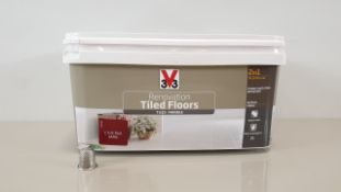 20 X 3V3 2 LITRE 2 IN 1 RED RENOVATION PAINT - IDEAL FOR TILED FLOORS, MARBLE