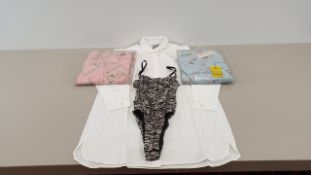 MIXED LOT CONTAINING 40 X PIECES OF CLOTHING IN VARIOUS STYLES AND SIZES IE ASOS WHITE COTTON