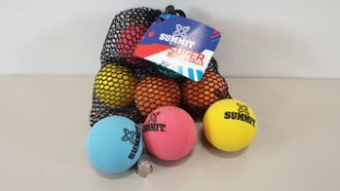 20 X PACKS OF 10 SUMMIT SUPER BOUNCY BALLS IN DRAWSTRING BAGS (IN 2 CARTONS)