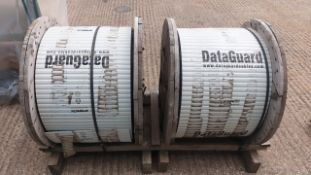 (LOT FOR THURSDAY 28TH MAY AUCTION 12 NOON) 2 X REELS OF DATAGUARD CABLE (ORIGINAL LABEL NO LONGER