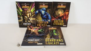 24 X PACKS OF 5 MARVEL AVENGERS INFINITY WAR PAPERBACK NOVELS IN 6 CARTONS (BRAND NEW)