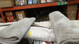 4 X ROLL ENDS OF CARPET - SILVER GREY SHORT PILE