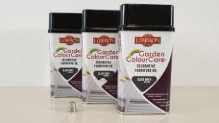30 X LIBERON 0.5 LITRE DECORATIVE FURNITURE OIL - SLATE GREY