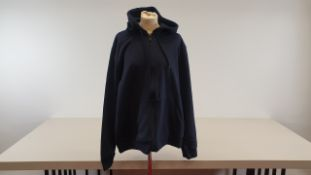 10 X BRAND NEW BURTONS MENSWEAR, CASUAL BLUE HOODED JACKETS WITH BLACK ZIP