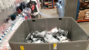 PALLET CONTAINING SHOES IN VARIOUS STYLES AND SIZES IE HEELS BOOTS SLIPPERS AND TRAINERS (ONLINE