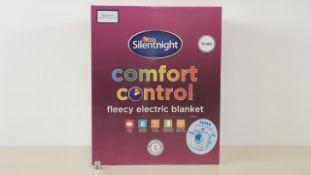 10 SILENTNIGHT FLEECY ELECTRIC SINGLE BLANKET (IN 2 CARTONS)