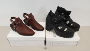 5 X TOPSHOP BOOTS IN VARIOUS STYLES SIZES AND COLOUR