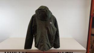 4 X BRAND NEW JACK AND JONES ORIGINAL GREEN COATS SIZE XL