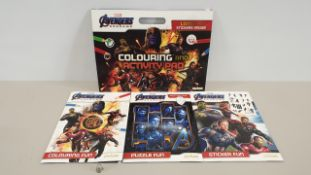 60 X MARVEL AVENGERS ENDGAME COLOURING AND ACTIVITY PAD (IN 6 BOXES)