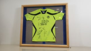 WIGAN ATHLETIC SIGNED SHIRT WITH 9 SIGNATURES - NO CERTIFICATE (ALTHOUGH WAS OBTAINED FROM AN EX