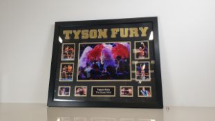 TYSON FURY PERSONALLY SIGNED PICTURE - GOOD CONDITION WITH CERTIFICATE OF AUTHENTICITY