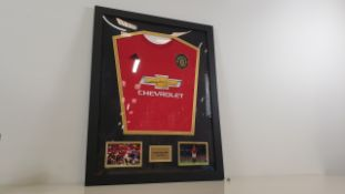 HARRY MAGUIRE PERSONALLY SIGNED MANCHESTER UNITED SHIRT - GOOD CONDITION WITH CERTIFICATE OF