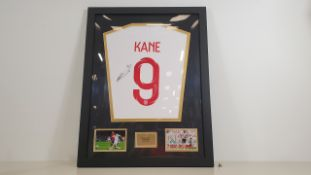 HARRY KANE PERSONALLY SIGNED ENGLAND SHIRT - GOOD CONDITION WITH CERTIFICATE OF AUTHENTICITY